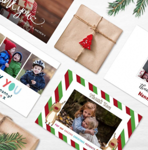 Thank you christmas card collage