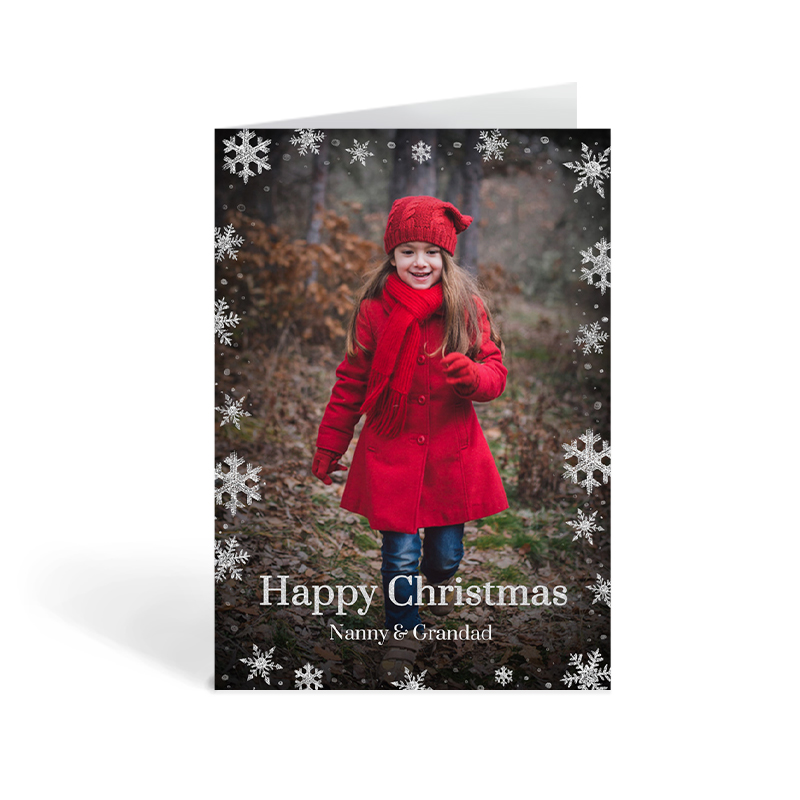 Christmas Card For Nanny And Grandad