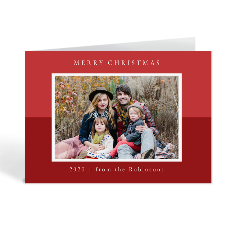 Photo Christmas Card For Friends